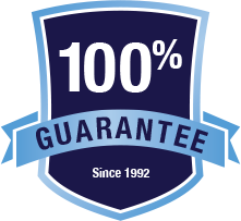 100% Guarantee Since 1992